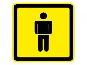 Dveřní štítek páni žlutý