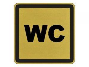 Štítek WC zlatý