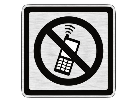 Zákaz telefonování stříbrný