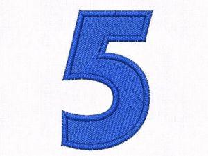 Nášivka čísla 5