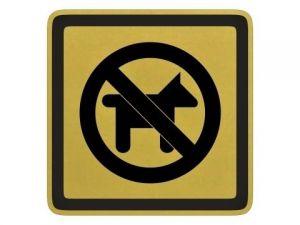 Piktogram Zákas vstupu psům zlatý