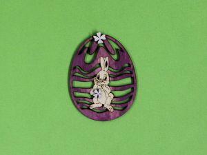 Velikonoční vajíčko zajíc barv.