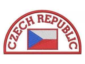 Nášivka Czech republic červená