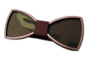 Motýlek dřevěný maskáč