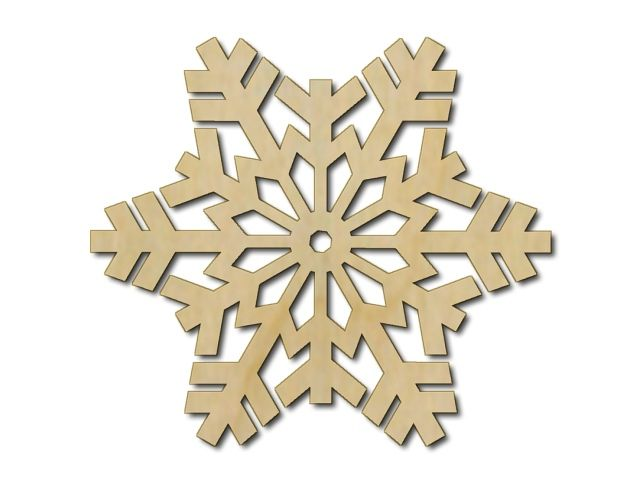 Sněhová vločka - výřez z překližky