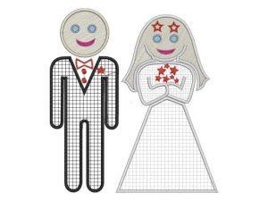 Výšivka ženich a nevěsta