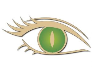 Dekorace orlí oko