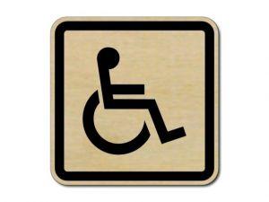 Piktogram Invalida dřevěný