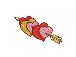 Výšivka Srdce s šípem