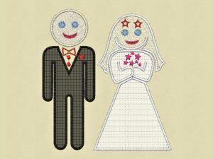 Výšivka Svatba