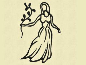 Výšivka zvěrokruh Panna