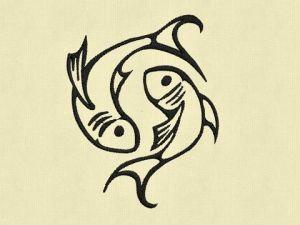 Výšivka zvěrokruh Ryby