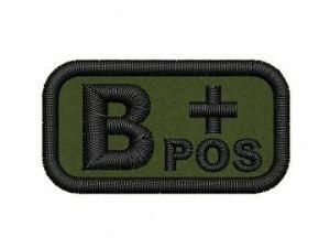 Krevní skupina B pos
