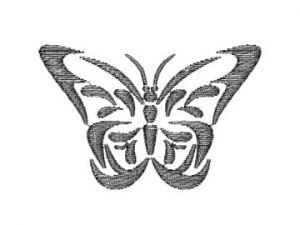 Výšivka Motýl